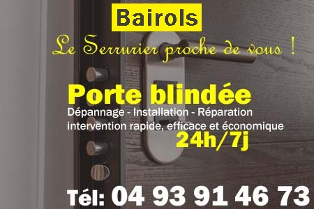 Porte blindée Bairols - Porte blindee Bairols - Blindage de porte Bairols - Bloc porte Bairols