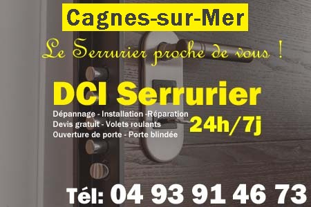 serrurier cagnes sur mer 04 93 91 46 73 d pannage 24h 7j. Black Bedroom Furniture Sets. Home Design Ideas