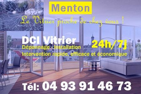 Vitrier Menton